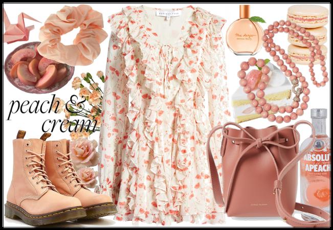 just peachy - peach & cream