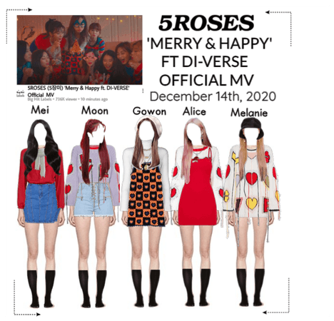 5ROSES 'Merry & Happy ft DI-VERSE Official Mv