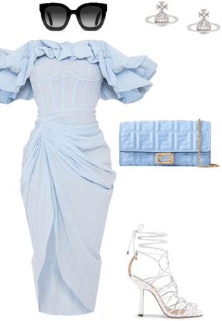 Blue, classy, effortless, chic