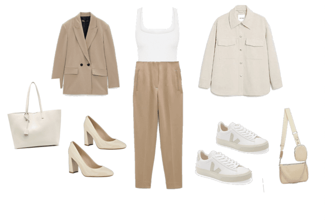Nude set for office or street