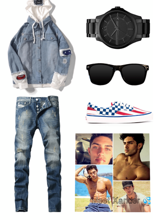 Xander walk in outfit