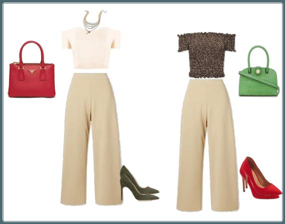 Outfit culotte para cuerpo triángulo