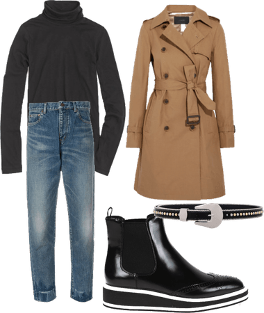 Trench/Chelsea boot