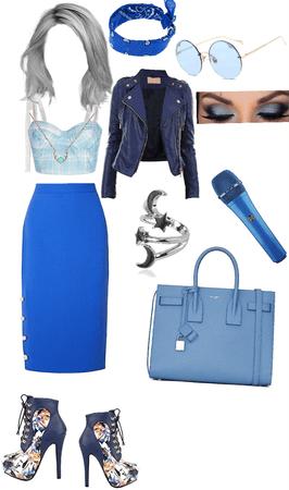 blue lady sing