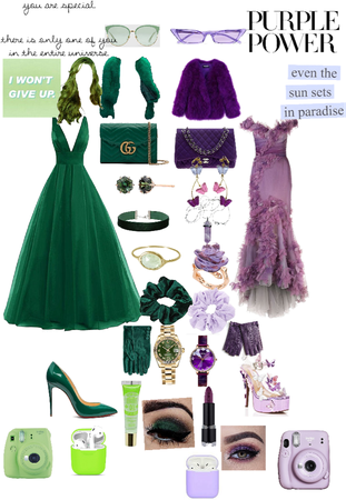 BFF Purple and Green