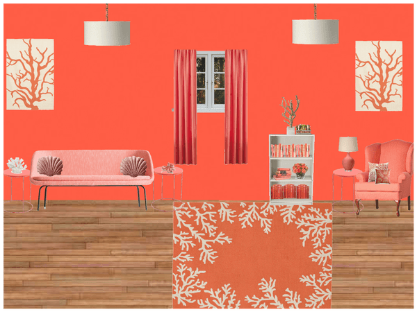 coral livingroom