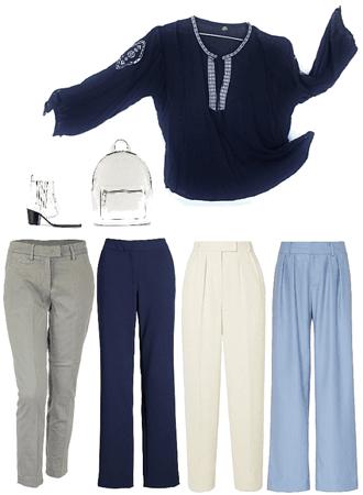 Blusa bambú azul marino