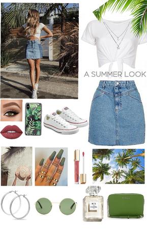 A summer look🌴👒💚