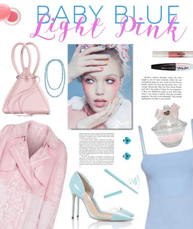 Pink//Blue//in Pastel Hues