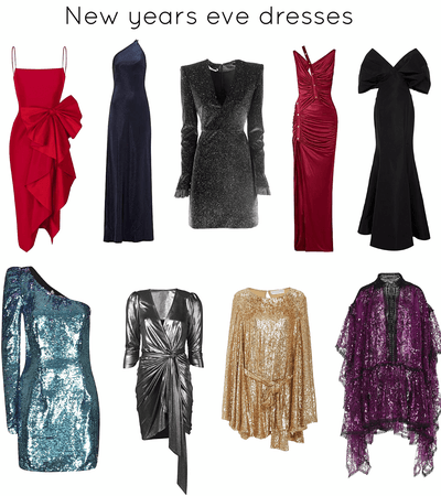 sparkle and shine New Year's Eve dresses
