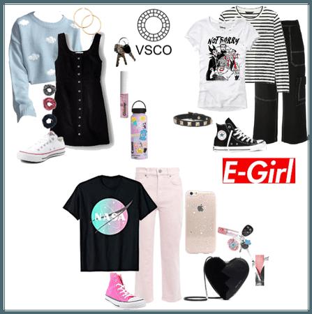VSCO, E-Girl and Soft Girl