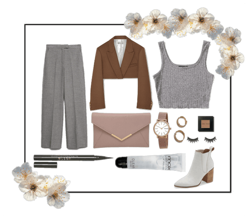 Brown & Grey Outfit!