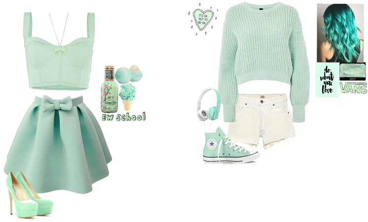 2014 Tumblr Mint outfits