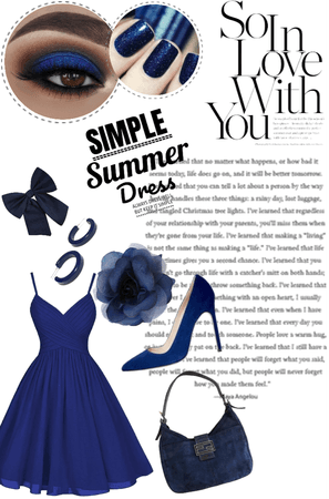 Blue Summer Dress 💙💙💙