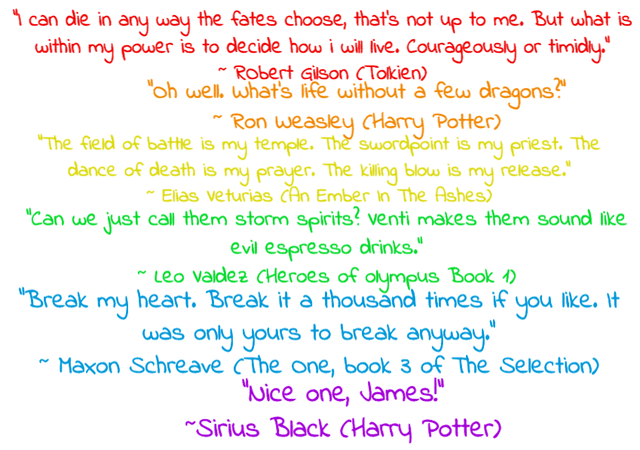 fave book quotes