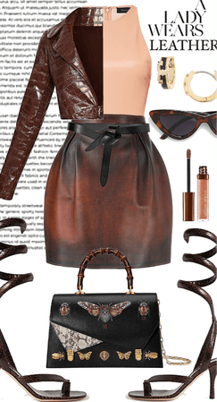 A Lady Wears Leather