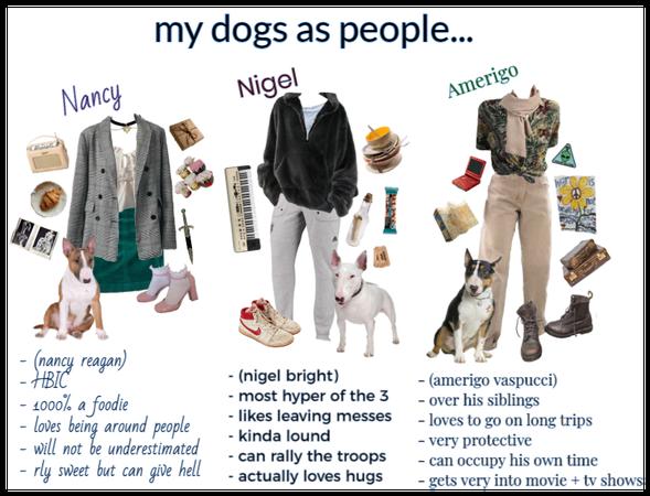 my doggos as people