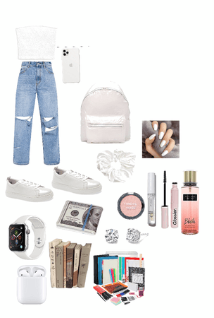 Simple outfit/things for school🤍
