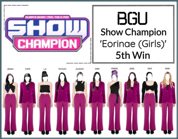 BGU Show Champion 'Eorinae (Girls)'