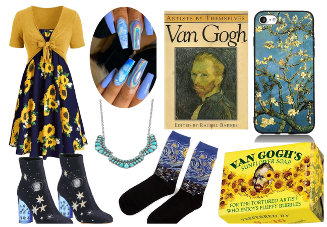 van gogh inspired look <3