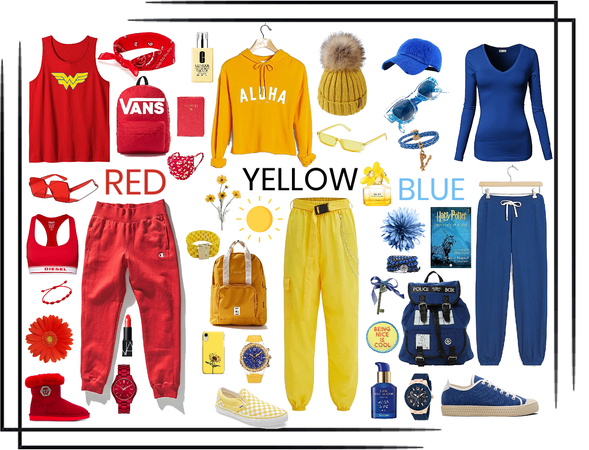 Red, Yellow, Blue