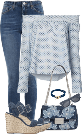 Off the shoulder Top and Jeans