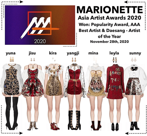 MARIONETTE (마리오네트) [RED CARPET] 2020 Asia Artist Music Awards