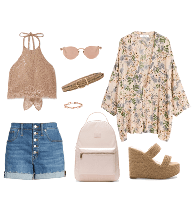 Summer casual in neutrals