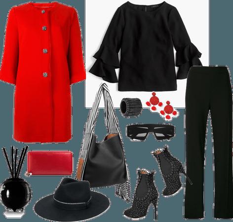 Her red coat
