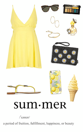 Simple Yellow Summer Dress