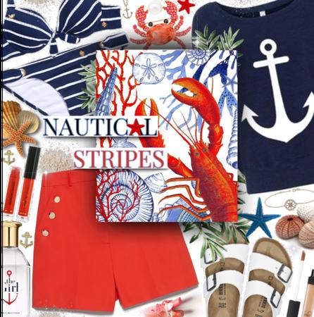 Nautical stripes babe