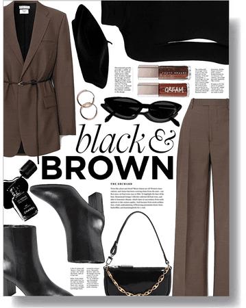 black & brown 🖤🤎