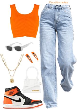 Orange fit😤🧡