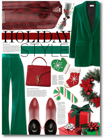 red & green holiday style ❤️💚