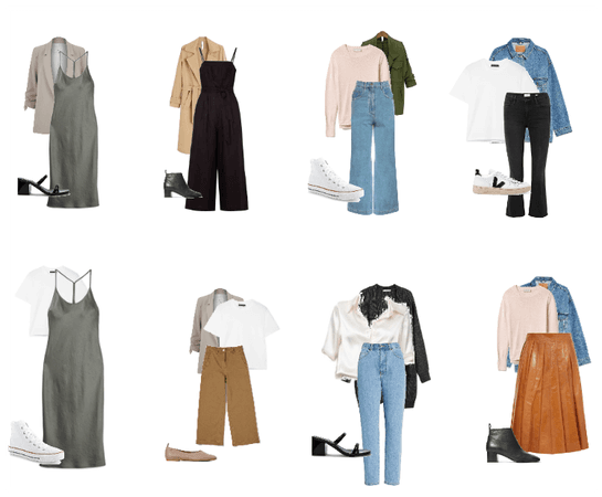 spring capsule outfits - 8 outfits - 2