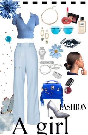 blue girl boss