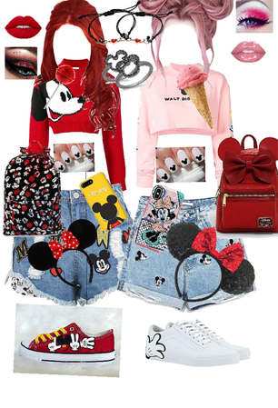 Disney mickey mouse and mini mouse