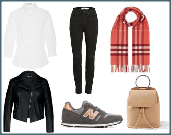 Outfit con básicos para invierno