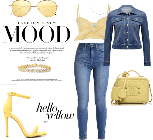 """Hello yellow"", denim"