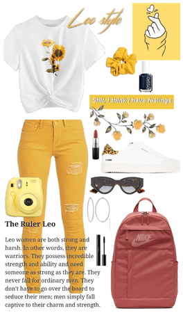 LEO and yellow inspired ☆ tell me what u think!! ♡