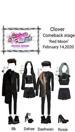 Clover Comeback stage of Red Moon [Music Bank] February 14,2020