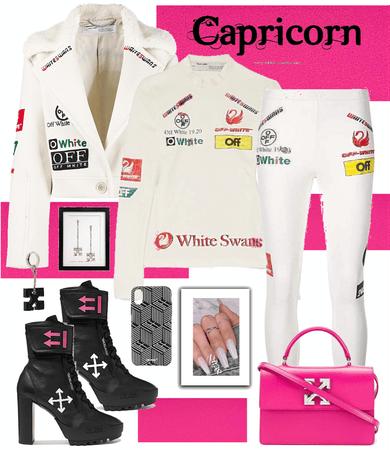 Capricorn Off White Birthday