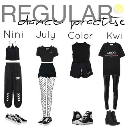 Regular|dance practice outfits|[4est]•