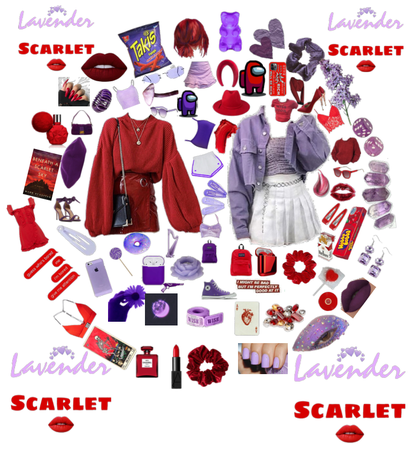 PURPLE AND SCARLET
