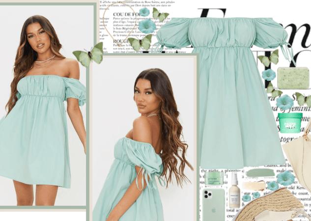 Sage Green Dress 🌴🥝🍏