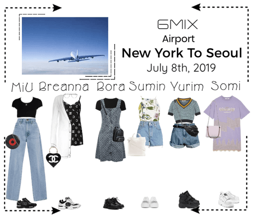 《6mix》Airport | New York To Seoul