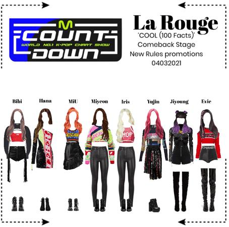 라로그 [𝗟𝗮 𝗥𝗼𝘂𝗴𝗲] - M Countdown Comeback Stage 'COOL (100 Facts)' (04032021)