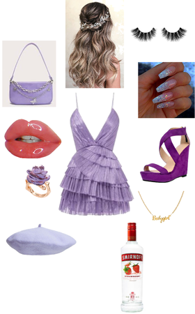 purple brides maid