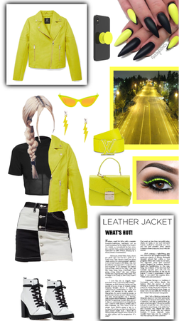 neon leather