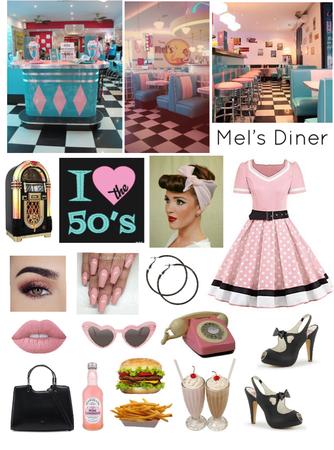 The 50's💗~ Mel's Diner🍔🍟